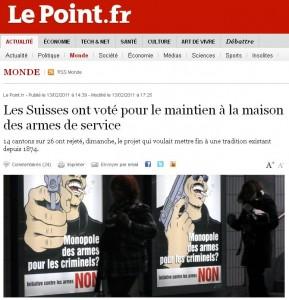 La suisse a dit oui au maintien des armes de service la for Arme defense maison