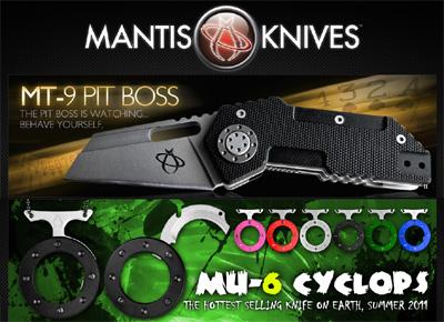 Couteaux Mantis, design innovant
