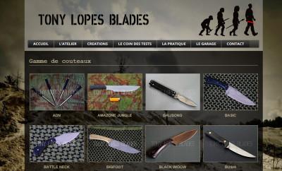Nouveau site web pour le coutelier Tony Lopes