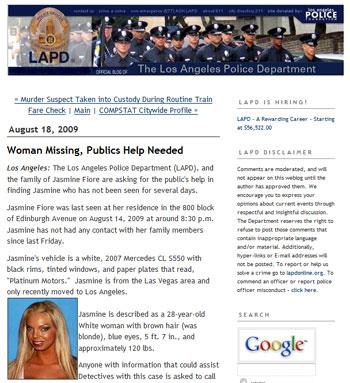 La police en blog… aux USA bien sûr !