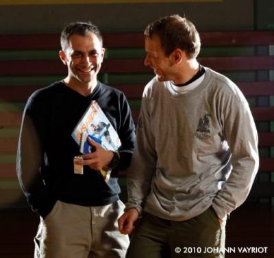 Martin Wheeler & Guillaume Morel pendant la séance photos
