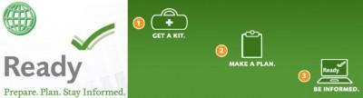 Ready.gov : avoir un kit, un plan & rester informé