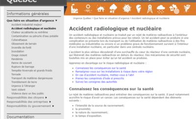 Urgence nucléaire