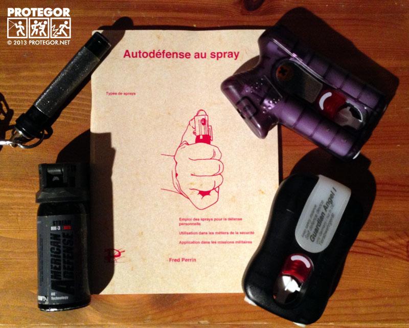 Autodéfense au spray, guardian angel, asp defender