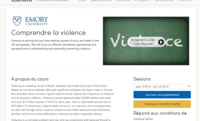 Comprendre la violence (MOOC)