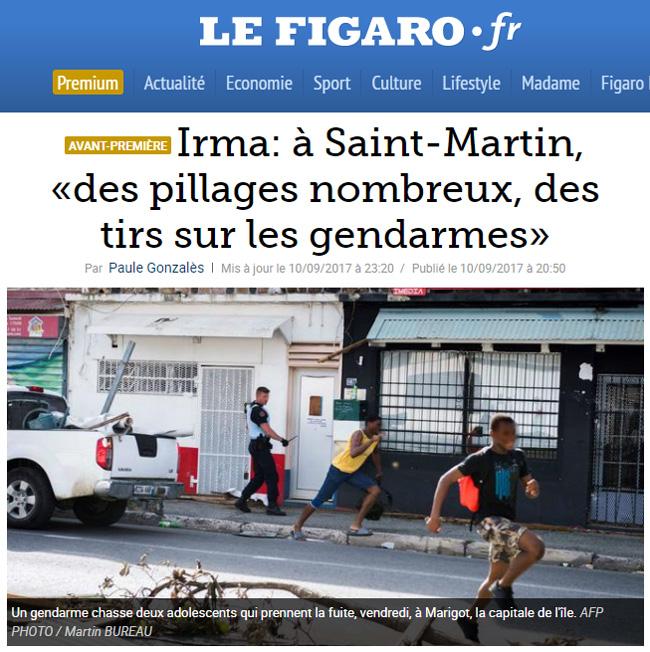 Pillages à Saint Martin (source : Le Figaro)