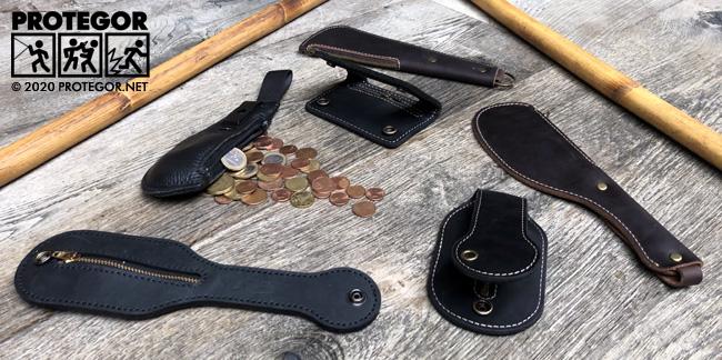 6 saps en cuir permettant tous de transporter des pièces de monnaie : 1 objet, 2 fonctions !