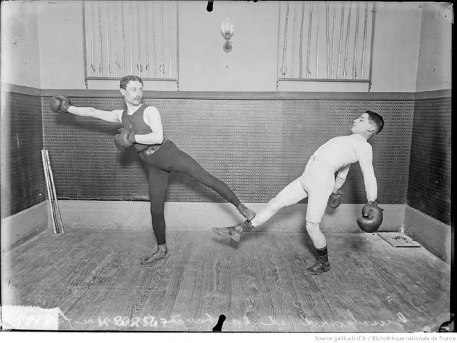 Guichard et Castérès Maurice fils, 1907 ; chassé de Boxe Française Savate